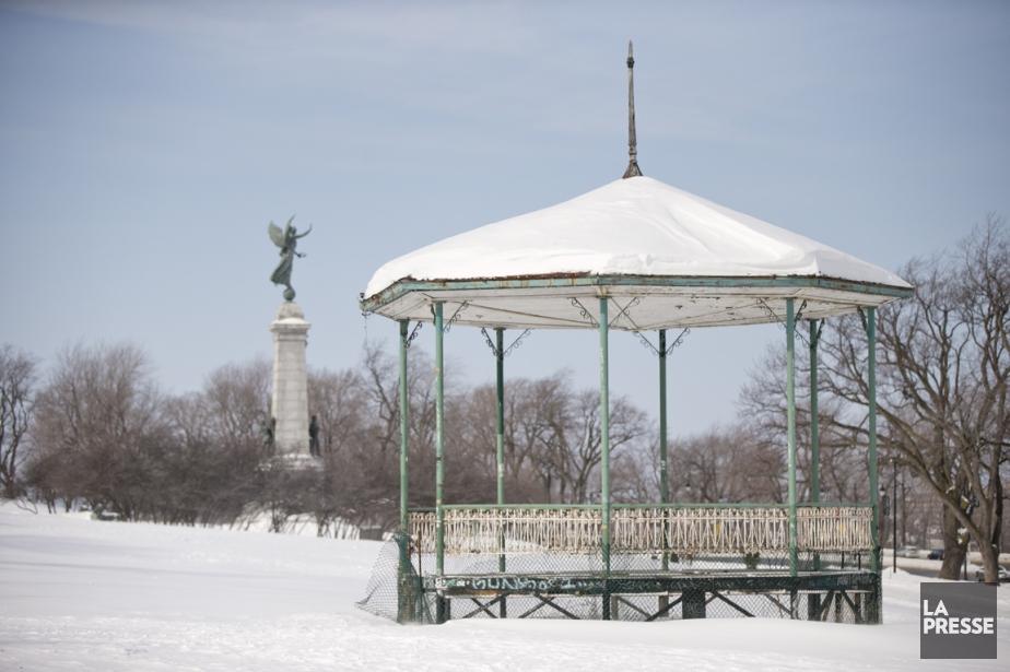 Cette gloriette du parc Jeanne-Mance a été nommée... (PHOTO DAVID BOILY, LA PRESSE)
