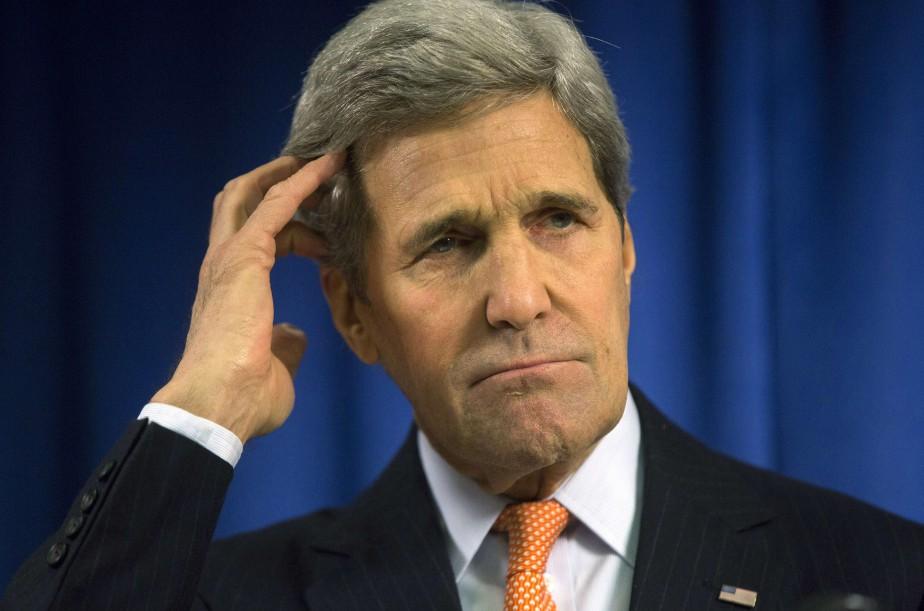Le secrétaire d'État des États-Unis, John Kerry... (PHOTO NEIL HALL, AFP)