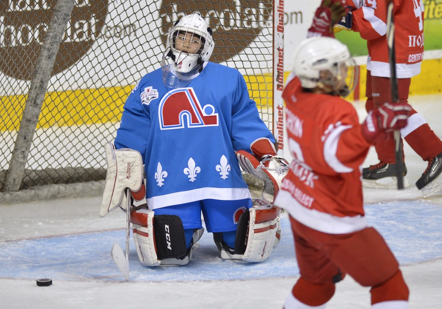 Les petits Nordiques ont perdu 5 à 0 contre les Russes, trop forts pour la ligue. (Photo Le Soleil, Yan Doublet)