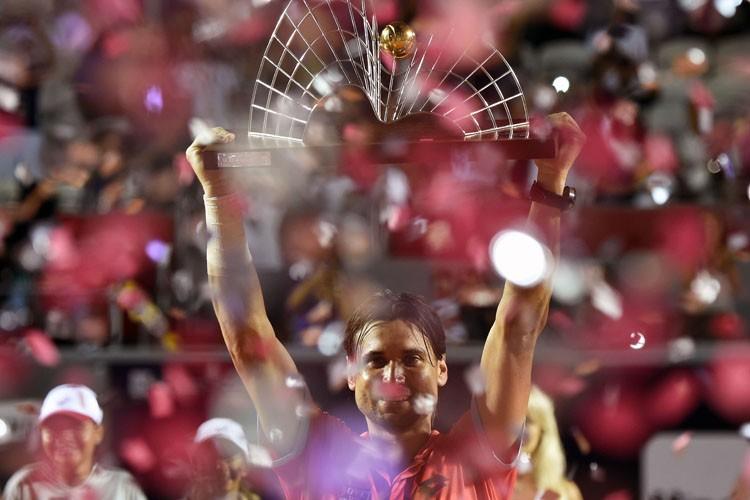David Ferrer a décroché un deuxième titre en 2015 et un 23e en... (Photo: AFP)