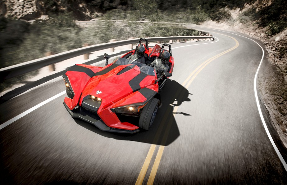 <strong>Polaris Slingshot 2015 </strong>— À partir de 21 999 $ (Photo fournie par Polaris)