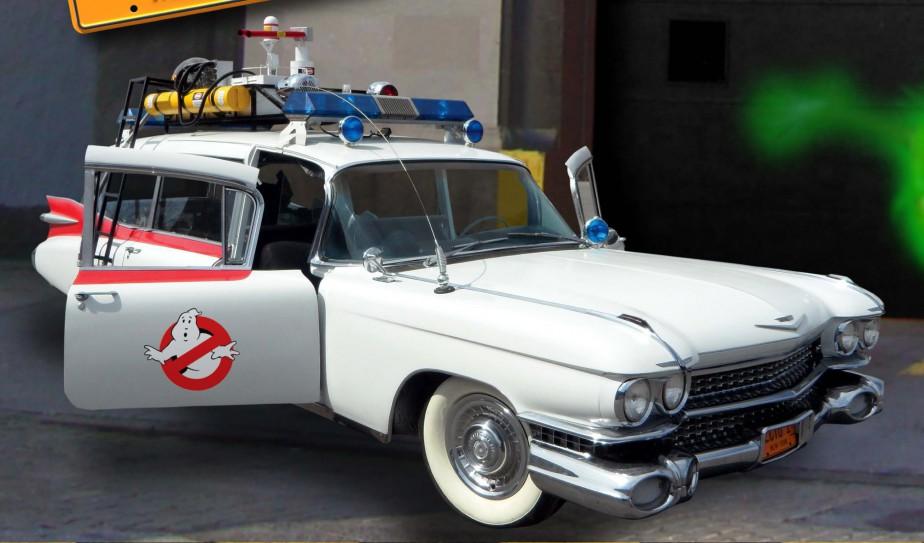 <strong>Les voitures de films et de séries télévisées</strong>-L'ambulance Cadillac 1959 de <i>S.O.S. Fantômes</i> (Photo fournie par Martin Caron)