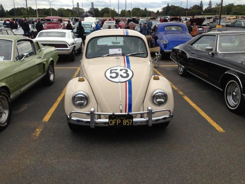 <strong>Les voitures de films et de séries télévisées</strong>- La <i>Choupette</i> (une Volkswagen Beetle 1963) du film <i>Un amour de coccinelle</i> (Photo fournie par Lucie Poulin)