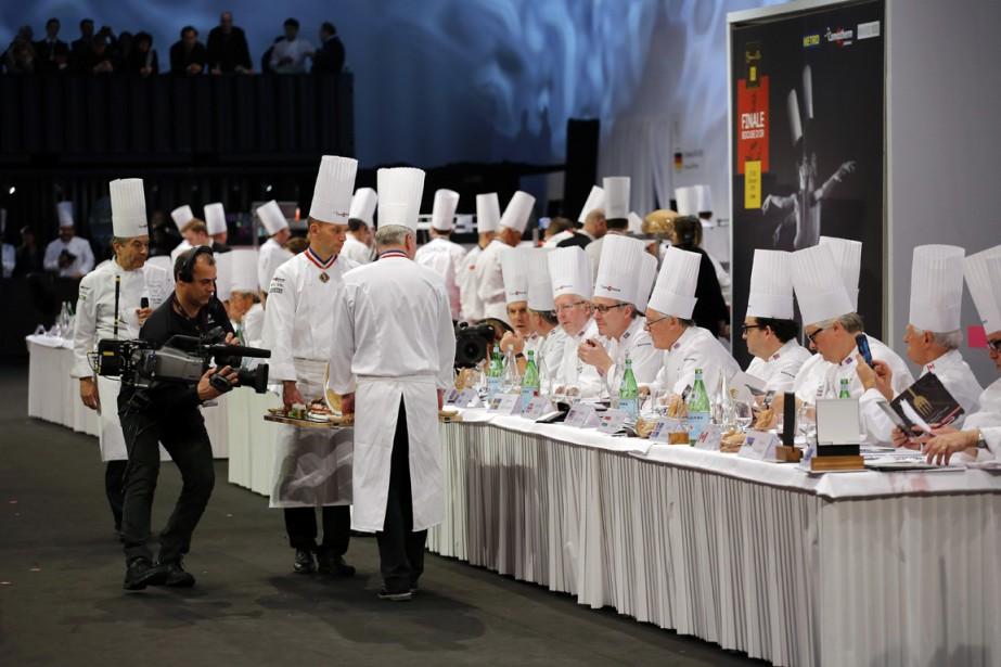 Le jury des Bocuse d'or est composé de chefs issus de tous les pays participants. (Photo Laurent Cipriani, AP)