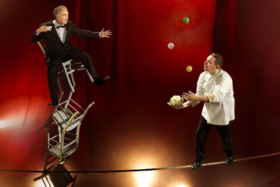 Les frères Albert et Ferran Adrià photographiés dans... (Photo Martin Schoeller, tirée du Calendrier Lavazza)
