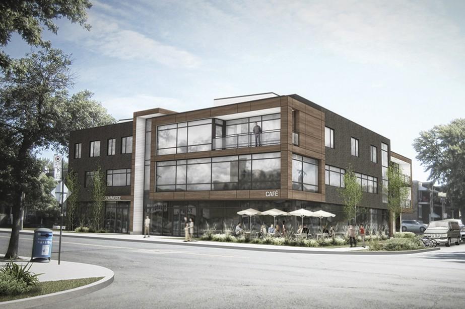 Le 3202 Beaubien comprendra huit appartements haut de... (Illustration fournie par le Groupe Leclerc Architecture+Design)