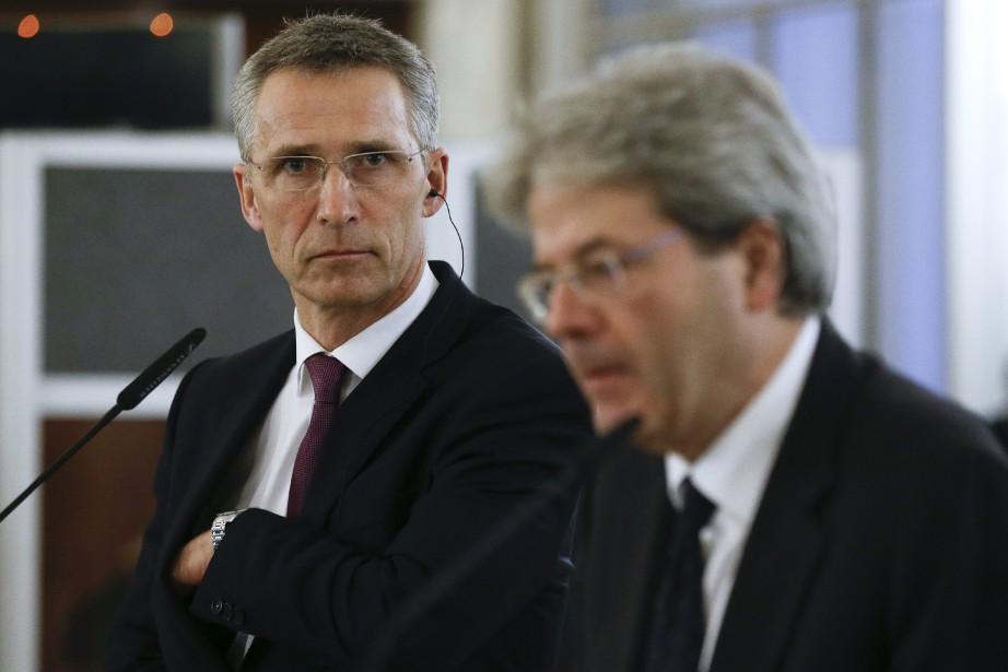 Le secrétaire général de l'OTAN, Jens Stoltenberg...