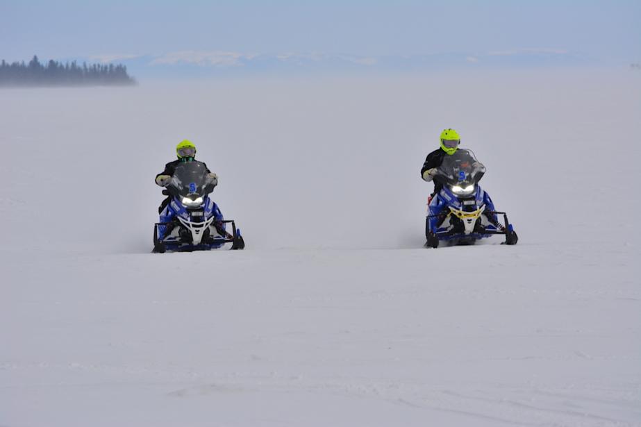 Certains tronçons de l'Aventure de Caïn se déroulent sur de grandes étendues glacées. (Photo fournie par L'Aventure de Caïn)