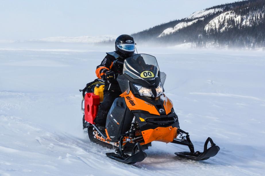 Le trajet de l'Aventure de Caïn de 2014 totalisait plus de 3300 kilomètres, la plus longue épreuve d'endurance en motoneige jamais organisée à ce jour. (Photo fournie par L'Aventure de Caïn)
