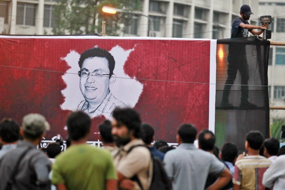 Des activistes sont descendus dans les rues de... (PHOTO A.M. AHAD, AP)