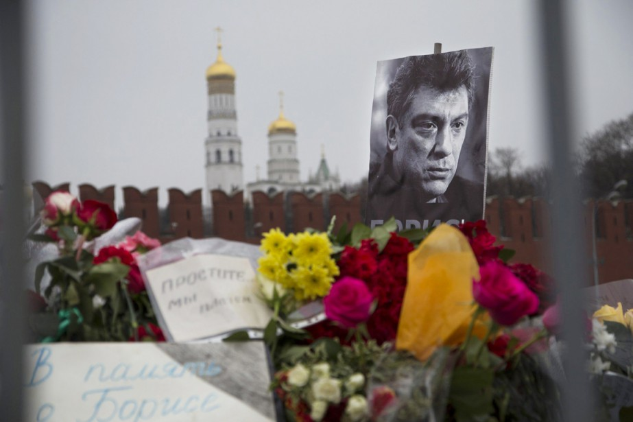 «Les réactions à l'assassinat de Boris Nemtsov ont... (PHOTO IVAN SEKRETAREV, AP)