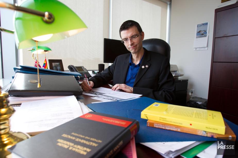 Dominic Peltier-Rivest est un professeur spécialisé dans la... (PHOTO OLIVIER JEAN, LA PRESSE)
