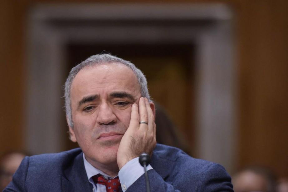 L'ancien champion d'échecs et opposant russe Garry Kasparov... (PHOTO MANDEL NGAN, AFP)