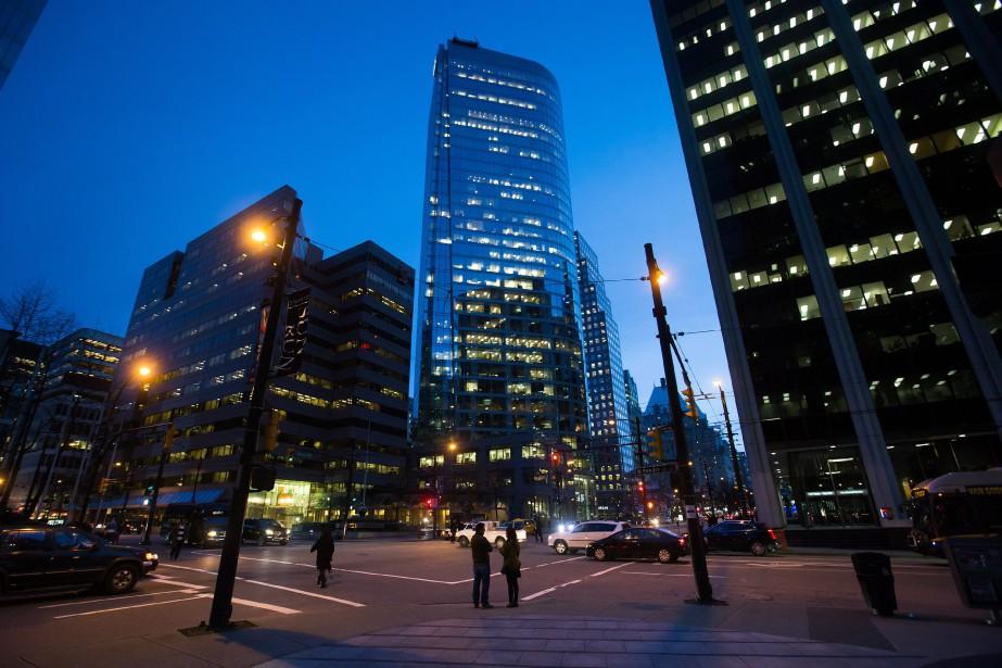 La tour Bentall 5 à Vancouver où ont...