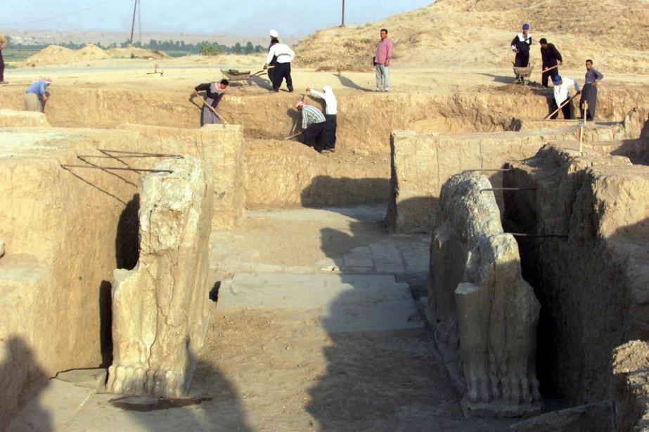 Nimroud était la ville phare de l'empire assyrien,... (PHOTO KARIM SAHIB, ARCHIVES AFP)