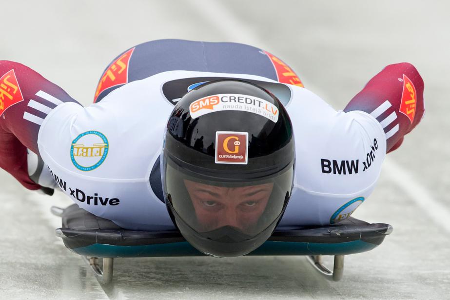 Martins Dukurs... (Photo Jens Meyer, AP)