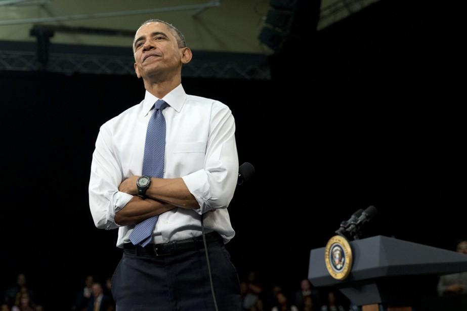 M. Obama a fait ces commentaires lors d'une... (Photo AP)