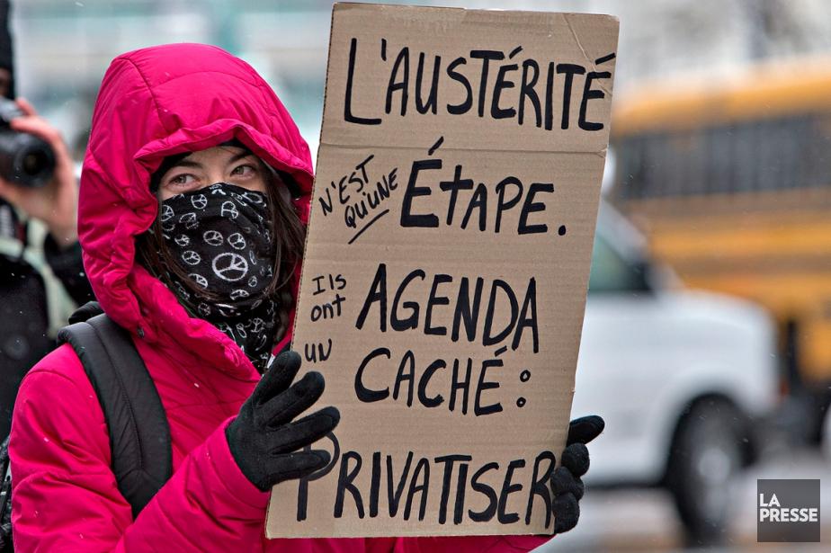 Une manifestation contre l'austérité a eu lieu à... (PHOTO PATRICK SANFAÇON, ARCHIVES LA PRESSE)
