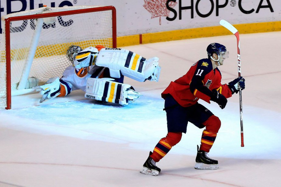 Jonathan Huberdeau a fait bouger les... (Photo Robert Mayer-USA TODAY Sport)