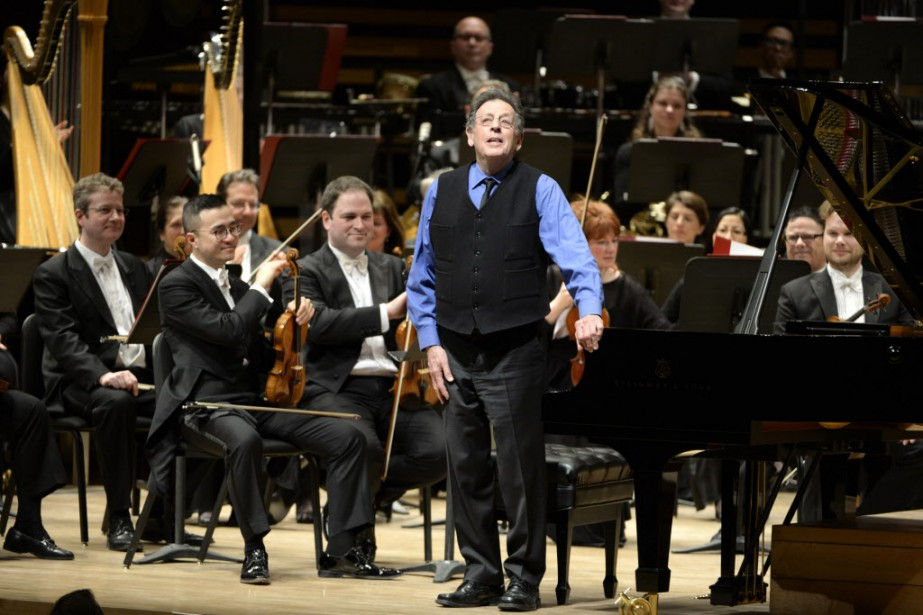 Le premier voyage de l'OSM avec Philip Glass... (Photo Charles Laberge, collaboration spéciale)