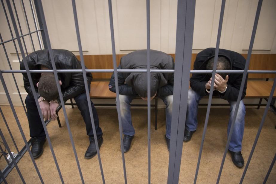 Les suspects du meurtre de Boris Nemtsovsont originaires... (Photo Ivan Sekretarev, AP)