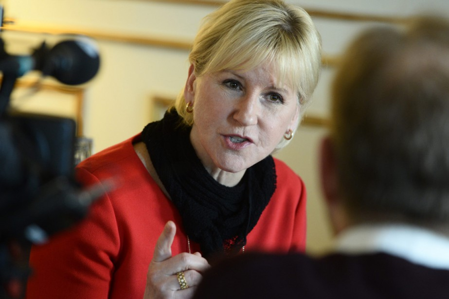 Margot Wallström, chef de la diplomatie suédoise, revendique par... (PHOTO CLAUDIO BRESCIANI, ARCHIVES AP/TT)