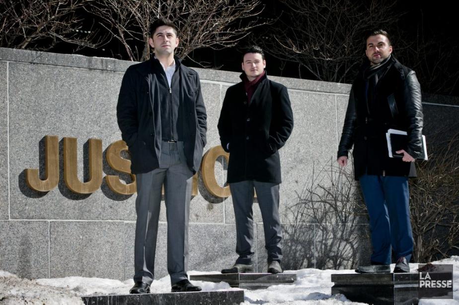 Nima Jalalandi, Jean-Olivier Bouchard et Amir Tajkarimi, les... (PHOTO DAVID BOILY, LA PRESSE)
