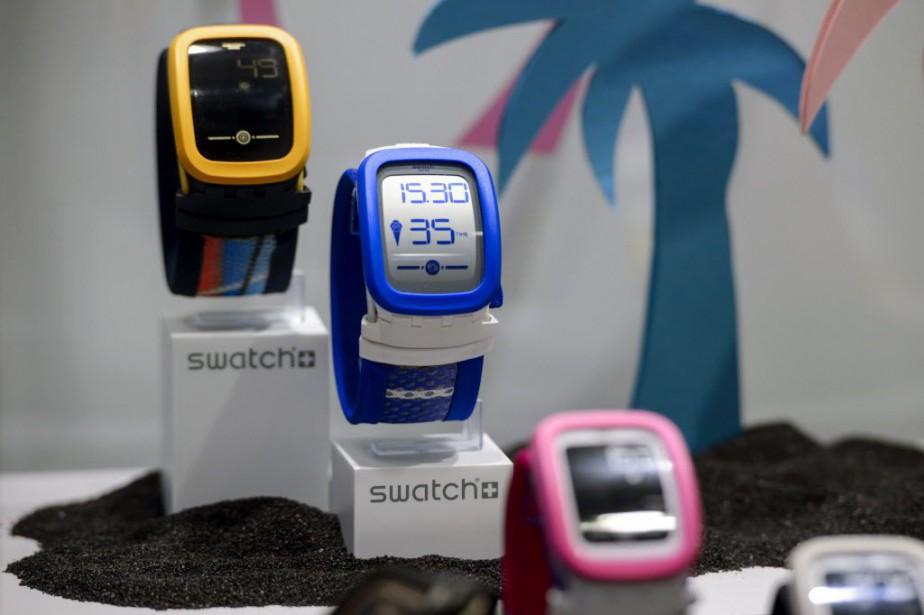 La montre Touch Zero One, présentée fin février... (PHOTO FABRICE COFFRINI, AFP)