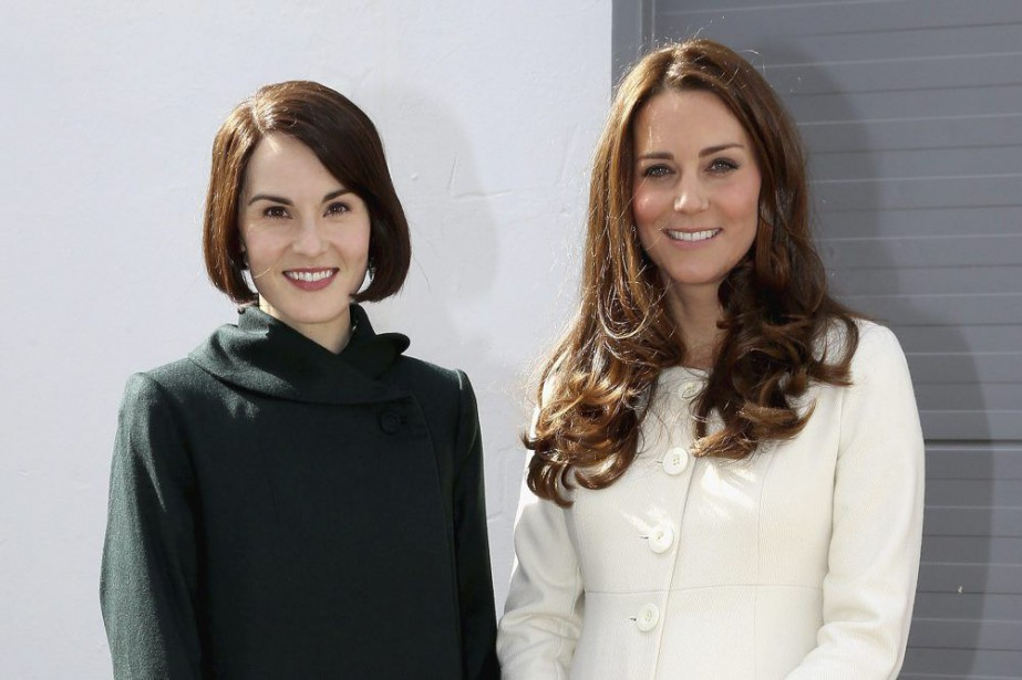 L'actrice Michelle Dockery pose en compagnie de Kate... (Photo: Reuters)