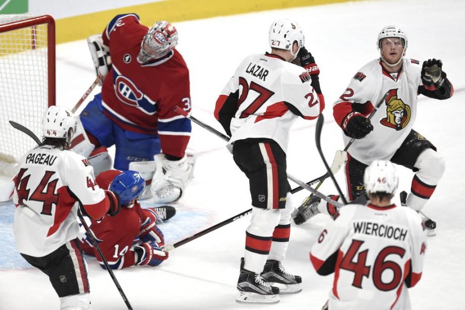 Price et Plekanec défendent le but du Canadien (Bernard Brault, La Presse)