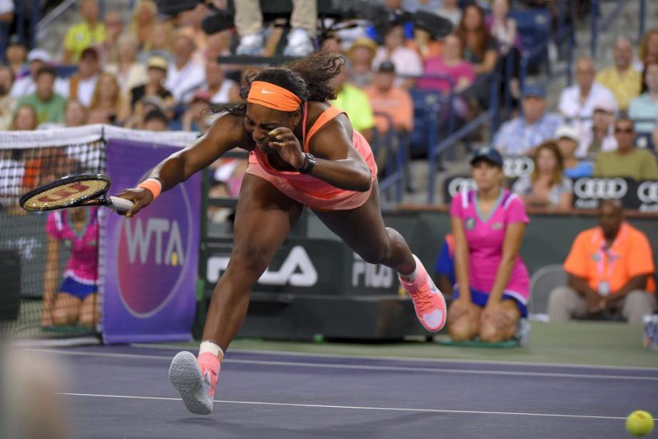 La N.1 mondiale Serena Williams a remporté vendredi son premier... (Photo AP)