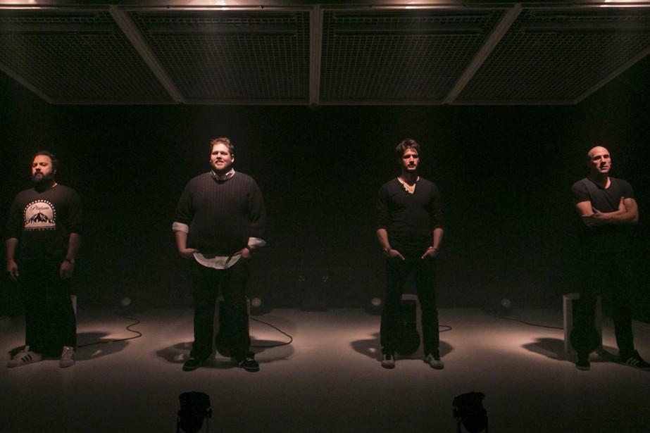 Les quatre personnages de la pièce donnent leurs... (Photo fournie par La Licorne)