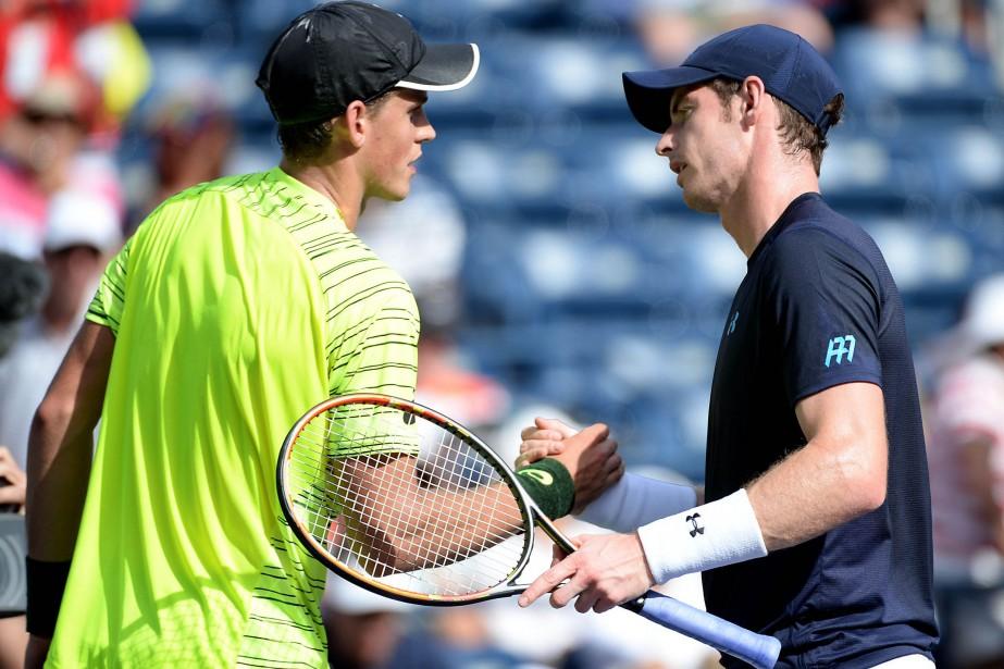 Vasek Pospisil et Andy Murray... (Photo Jayne Kamin-Oncea, USA Today)