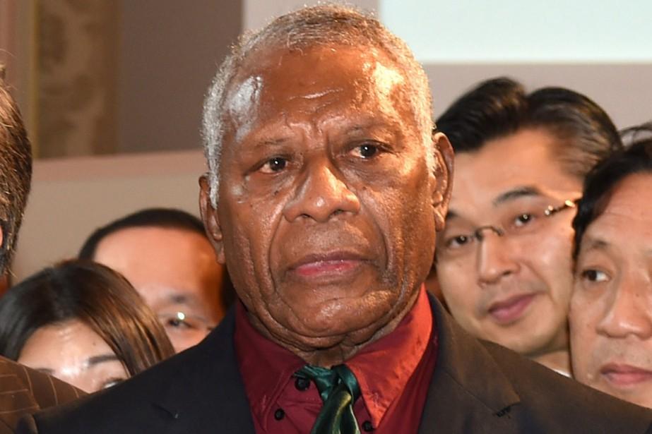 Le président du Vanuatu Baldwin Lonsdale... (Photo TOSHIFUMI KITAMURA, AFP)