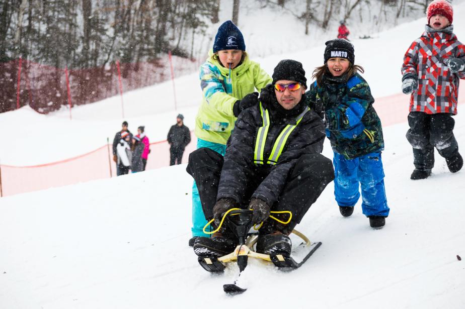 À Vallée-Jonction, les organisateurs attendaient pas plus de 100 participants au premier GP 3-Skis, mais ce sont plus de 300 personnes qui se sont inscrites à l'événement, dont de nombreuses familles. (Photo Nickb Media, fournie par Marto Napoli)