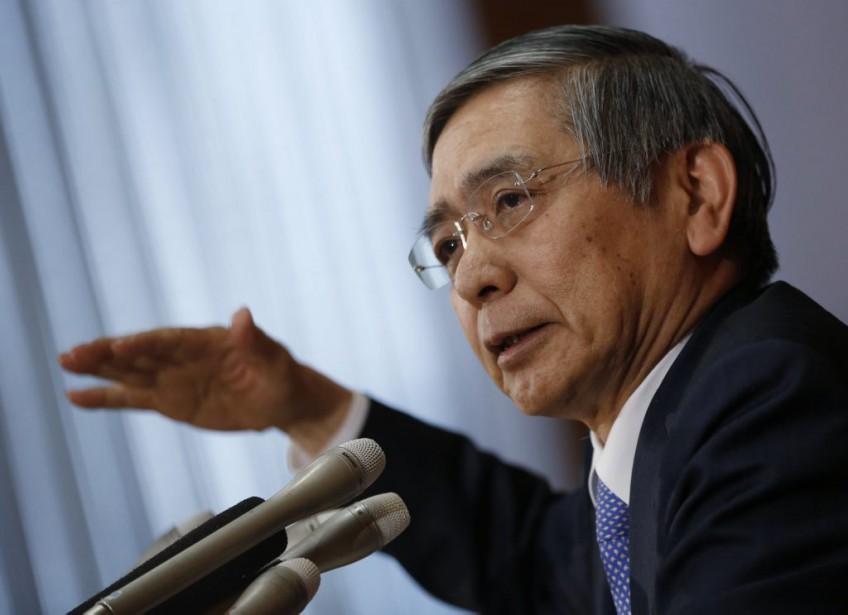 Haruhiko Kuroda, le gouverneur de la Banque du... (PHOTO YUYA SHINO, REUTERS)