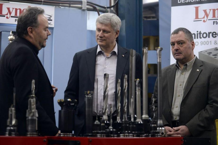 Le premier ministre Stephen Harper a fait cette... (Photo AARON HARRIS, Reuters)