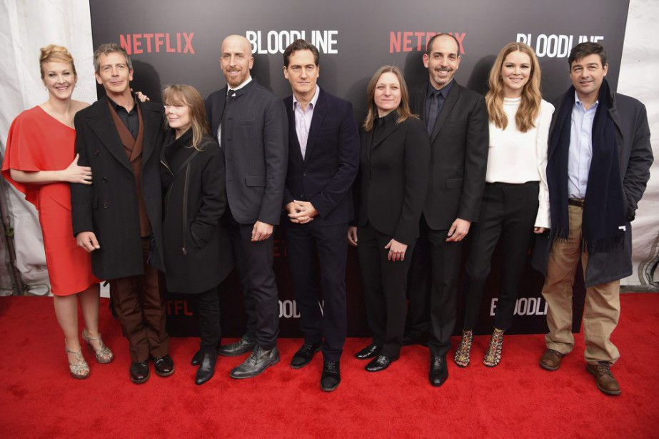 L'équipe de Bloodline: Katie Finneran, Ben Mendelsohn, Sissy... (Photo: AFP)