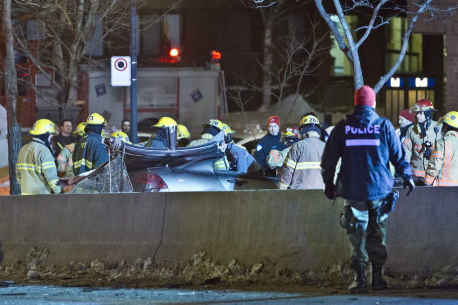 Un violent accident a eu lieu dans la... (PHOTO FÉLIX O.J. FOURNIER, COLLABORATION SPECIALE)