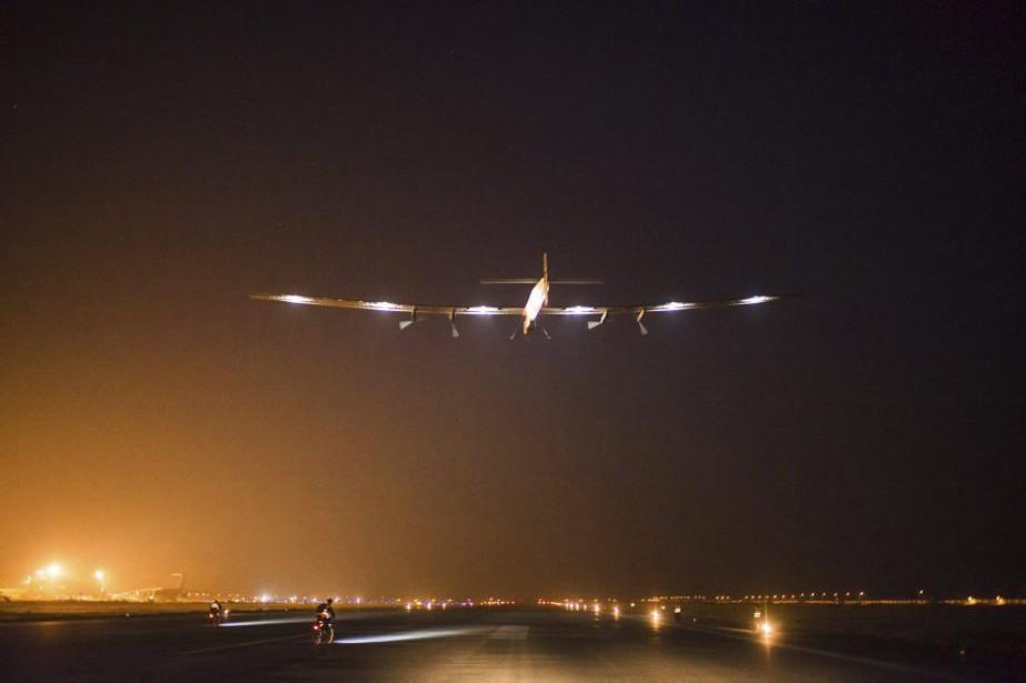 Le monoplace a décollé à 19h52 (heure de... (PHOTO AGENCE FRANCE-PRESSE)