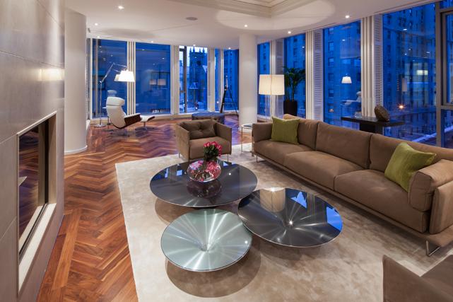 Le salon d'une nouvelle résidence. Crédit photo: Stéphane Groleau. ()