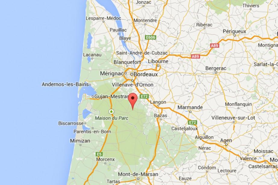 Louchats, un petit village de 700 habitants à... (Photo tirée de Google Maps)