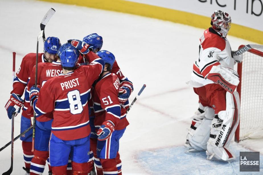 PHOTO BERNARD BRAULT, LA PRESSE-Montreal, Quebec:Martch regulier LNH-NHLHurricanes...