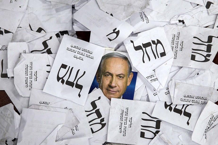 Benyamin Nétanyahou, premier ministre israélien sortant dont on... (PHOTO JACK GUEZ, AGENCE FRANCE PRESSE)