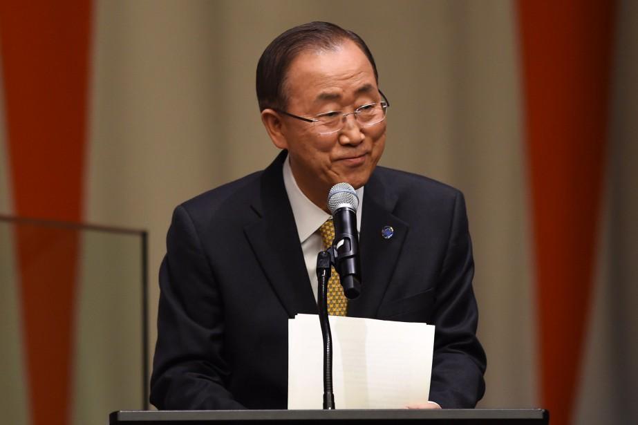 Le secrétaire général des Nations unies, Ban Ki-moon... (PHOTO DON EMMERT, ARCHIVES AFP)