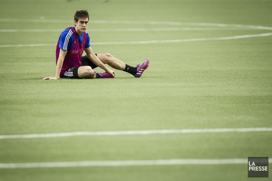 CameronPorter s'est blessé samedi après-midi sur la pelouse... (Photo: Olivier Jean, archives La Presse)