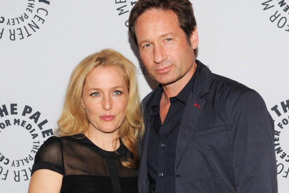 David Duchovny et Gillian Anderson... (PHOTO ARCHIVES AP)