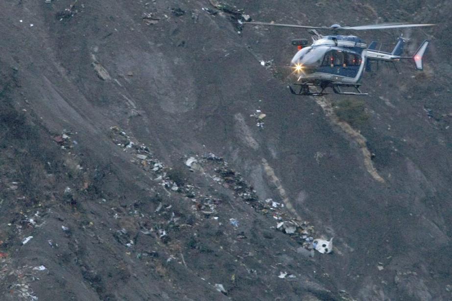 RECROP OF XMAR118 Debris of the Germanwings passenger...