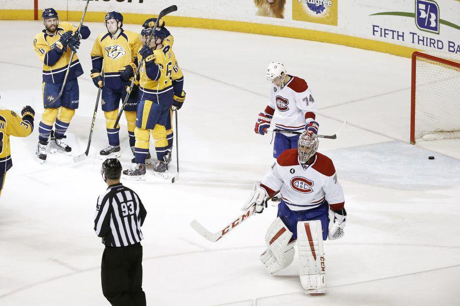 Montreal Canadiens goalie Carey Price (31) and defenseman...