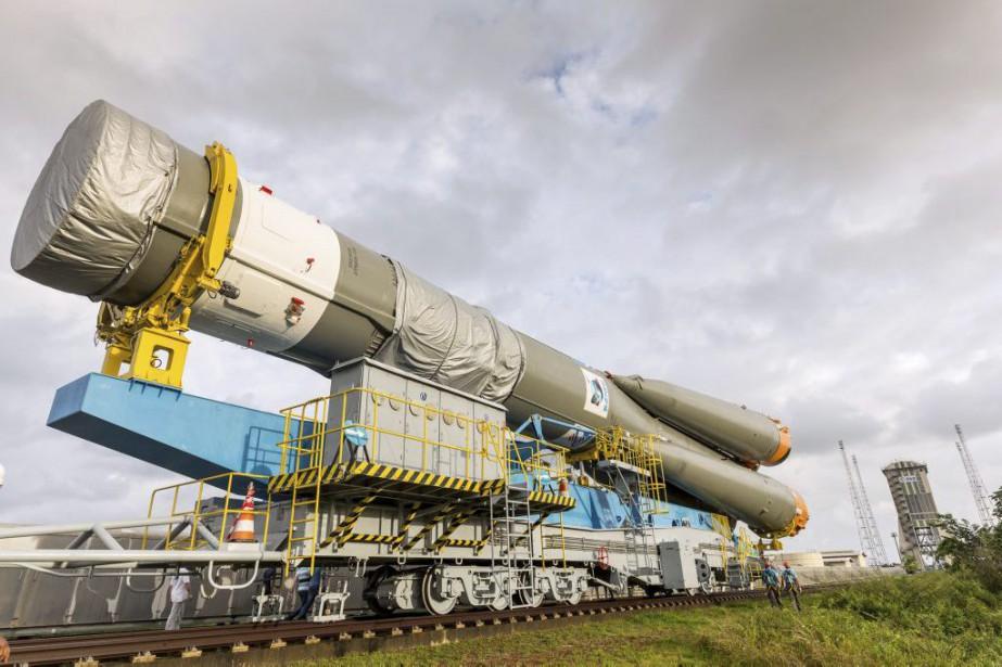 Une fusée russe Soyouz emportant des satellites Galileo.... (PHOTO JODY AMIET, ARCHIVES AGENCE FRANCE-PRESSE)